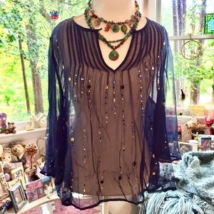 🌻 Free People Jewel Box Embellished Top 🌻